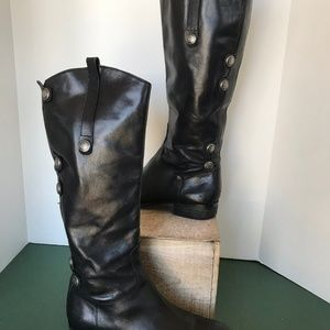 Arturo Chiang Black Leather Riding Boots